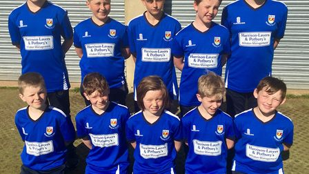 Sidmouth Under-11s who won their cup match against Seaton.