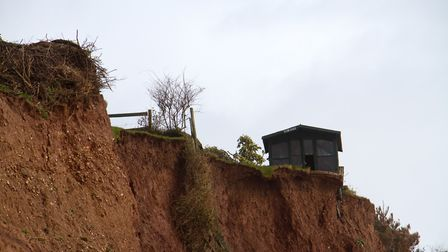 Shed for sale on top of Sidmouth cliffs. Ref shs 14 18TI 0920. Picture: Terry Ife