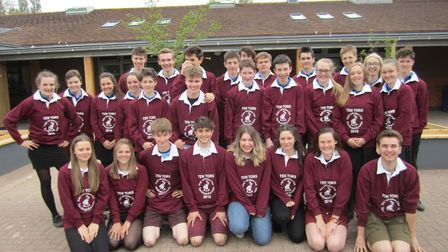 Members of all the teams taking part from The King's School in this year's Ten Tors challenge at the