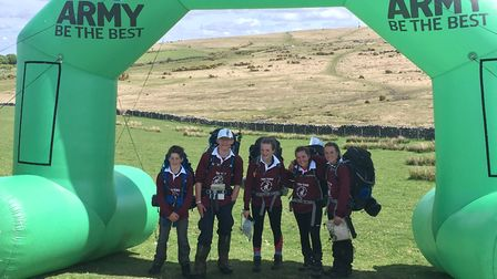 Pupils from The King's School completed the Ten Tors challenge at the weekend.