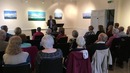 Novelist Robert Goddard entertains an audience at Kennaway House