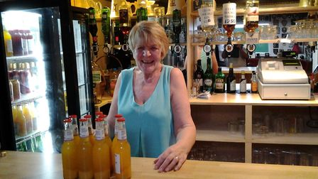 Sidmouth Bowls Club bar person Wendy who, with her husband Mick, looks after the bar at the club