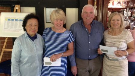 The Sidmouth ladies' Mixed Texas Scramble winners, Janet Humberstone and Anne Blackler pictured with