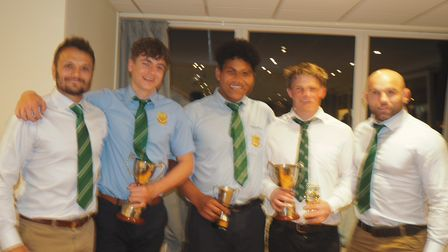 The Sidmouth RFC awards.