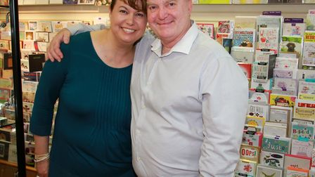 Colin and Kylie Cramb at Coles in Sidmouth. Ref shs 30-16TI 5102. Picture: Terry Ife
