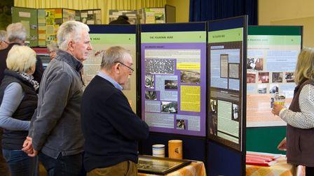Good attendance at the Branscombe Project exhibition. Ref shb 15 18TI 1092. Picture: Terry Ife