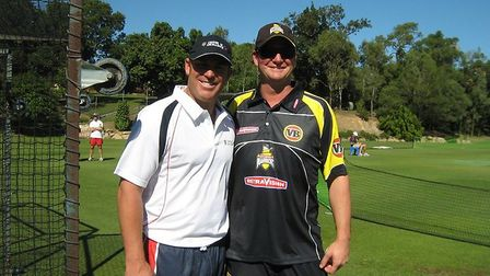Andy Cottam with Shane Warne.