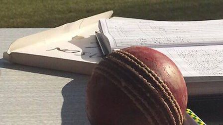 Looking out from a cricket scorers position