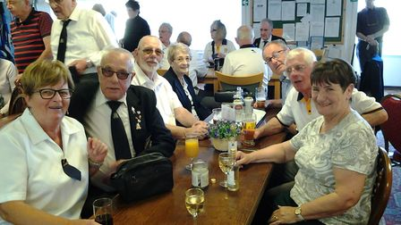 Members of the West Midland Police touring bowlers who visited Sidmouth.