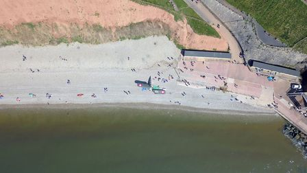 The plane at Jacob's Ladder beach, Sidmouth, being dismantled. Picture: Danny Whittle
