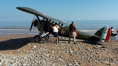 The plane on Jacob's Ladder Beach.