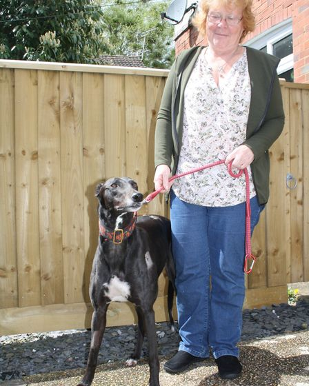 Lottie and her owner Sue Perryman.