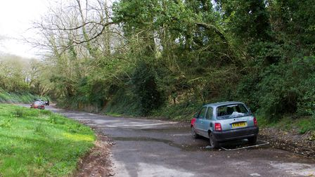 Abandoned cars in the Boyd layby. Ref shs 17 18TI 1744. Picture: Terry Ife