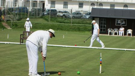Action from the Sidmouth croquet greens