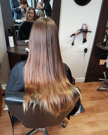 Abi Hext, 13, decided to cut eight inches of her hair to donate to the Princess Trust to support yea