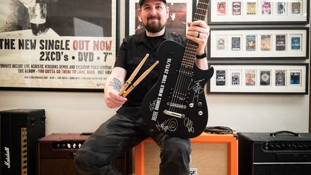 Tim Stark came up with the idea to donate his signed Muse guitar and other rock memorabilia to raise