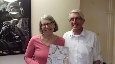Gill and Tony Vosper were crowned couple of the year by Slimming World for losing the most weight in