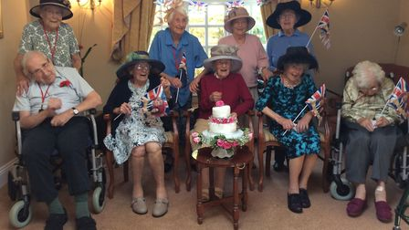 Residents at Fourways Residential Home enhoyed a royal party to celebrate the wedding of Prince Harr