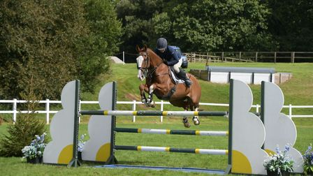 Sammi Jo Coffin and Willem De Luxe, who will be in action at the Bicton International Arena during t