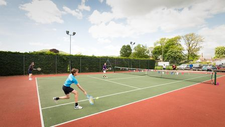 Sidbury Tennis Club 70th anniversary celebrations and action from the triples competition. Picture: