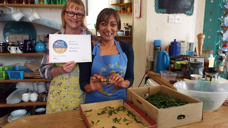 Tina Chauhan-Challis, the Samosa Lady of Ottery, has received a gold award from Taste of the West.
