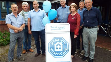 Trustees of Sidmouth Hospiscare, the project manager and architect spoke to residents at an open eve
