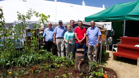 Axminster allotments and leisure gardeners at the Axe Vale festival. Ref mha 25 17TI 5037. Picture: