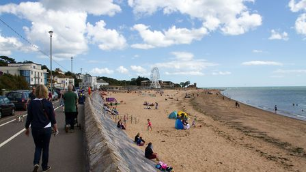 Exmouth seafront, looking east. Picture: Terry Ife