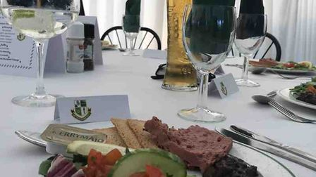 The dinner that was served up at the Withycombe RFC 2018 Awards Evening.