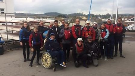 Sidmouth Sailing Club members at the bank Holiday event.