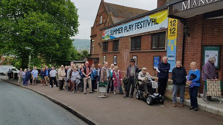 A big queue formed outside the Manor Pavilion Theatre at 7.45am on the day tickets for the 2018 Summ