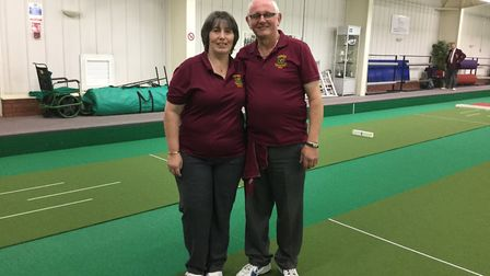 Carol and Eric Pavey, who have both been called up to play short mat bowls for the England national