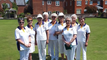 Sidmouth bowlers in 2018.