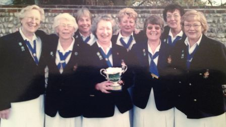 Sidmouth bowlers from a previous season.