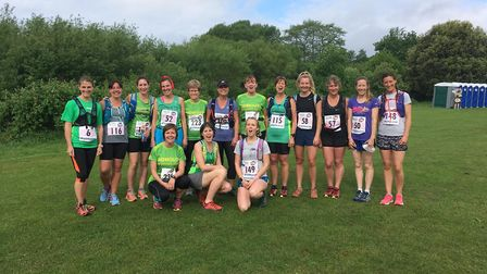 Sidmouth RunningClub ladies at the Women Can Marathon. Picture by Tony Velterop