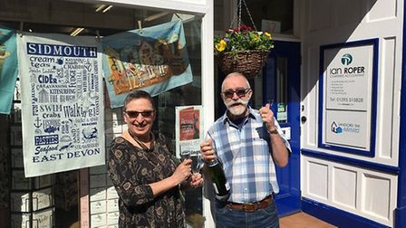 Jo and Martin Johnstone outside their shop Paper Moon