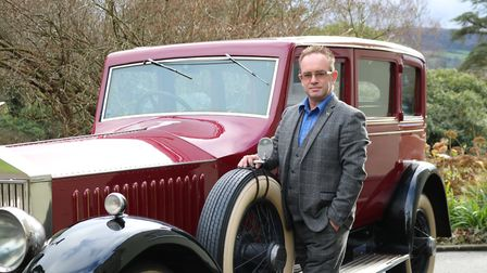 Stephen Poat with the Rolls Royce.