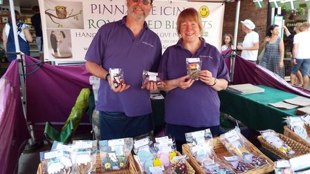 Pinnicle Icing from Tipton St John show off their intricate icing designs, which feature tractors, e