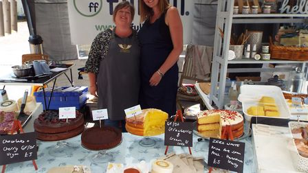 Lisa Hackett and Alice from FillFull show off their zero waste products at the food festival.