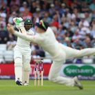 Pakistan's Haris Sohail is caught by England's Dom Bess during day three of the Second NatWest Test