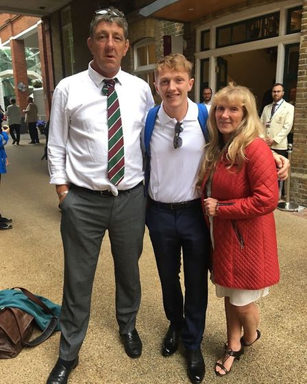 Proud family: Russell Bess, Dom Bess and Jane Bess