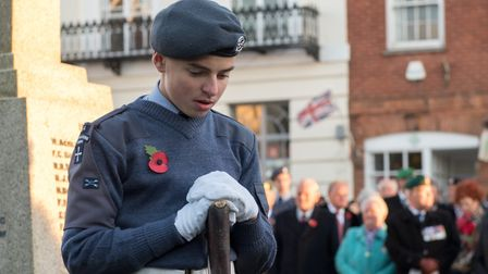 Honiton Remembrance Day Service, 2017. Picture: Matt Round