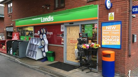 Break-in at Londis shop at the petrol station on Woolbrook Road