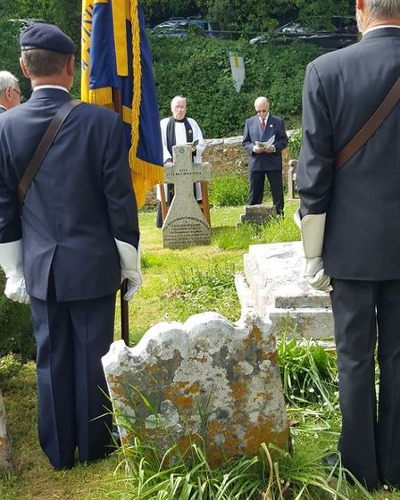 Service at Salcombe Regis to commemorate 100th anniversary of Battle of Bois des buttes.