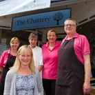 Lynda Cole with her staff at The Chattery. Ref shs 21 18TI 4392. Picture: Terry Ife