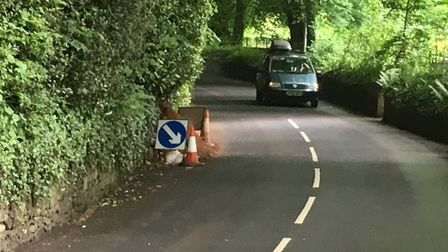 Badgers cause fresh earth spillage on Station Road