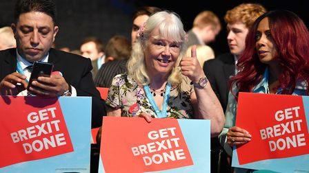 Tory activists campaign to 'get Brexit done'. Photo by Jeff J Mitchell/Getty Images.