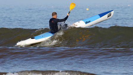 Sidmouth Surf Life Saving Club action. Picture SIMON HORN