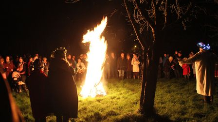 there could be plenty of local dialect at a traditonal Wassail, such as at this one in Whimple. Pict