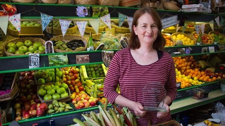 Judith Taylor of Wayside Market with her business award. Ref shs 24 18TI 5107. Picture: Terry Ife